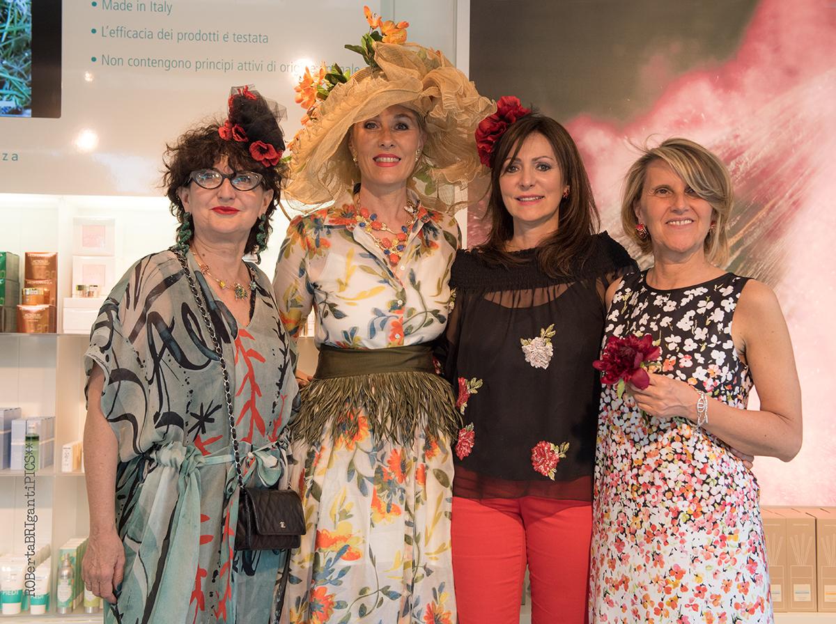 Nicoletta Civardi, Barbara Ghilardi Carli, Antonella Locatelli, Maura Mauri a Orticola 2018