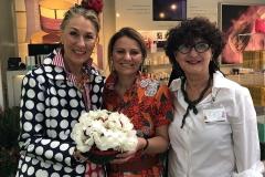 Barbara Ghilardi Carli, Barbara Di Luise, Nicoletta Civardi a Orticola 2018, stand Mediterranea Cosmetics