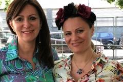 Antonella Locatelli e Barbara Di Luise a Orticola 2018, stand Mediterranea Cosmetics