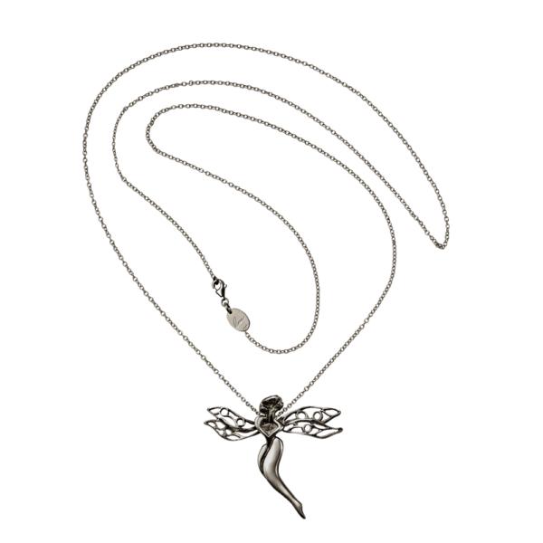gioiello libellula argento grigio
