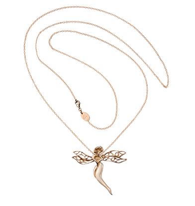 gioiello libellula argento rosa