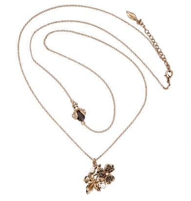 collana garden fior foglia perline