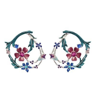 orecchini garden cerchio fiorito