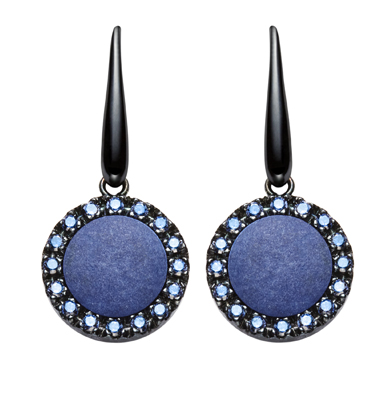 orecchini urania pietra agata azzurra