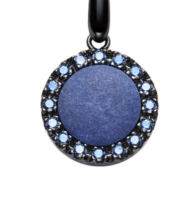 orecchini urania pietra agata azzurra dettaglio