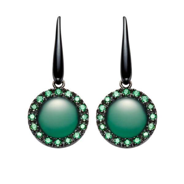 orecchini urania pietra agata verde