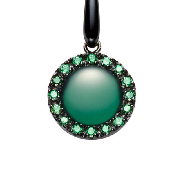 orecchini urania pietra agata verde dettaglio