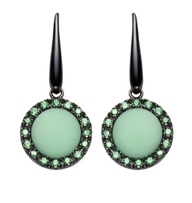 orecchini urania pietra crisoprasio verde