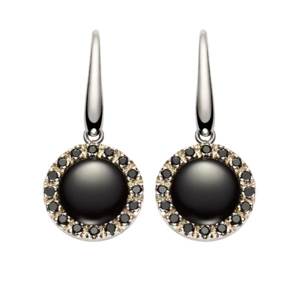 orecchini urania pietra onix nera